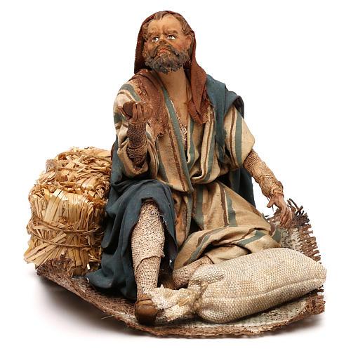 Nativity scene beggar 18 cm by Angela Tripi 1