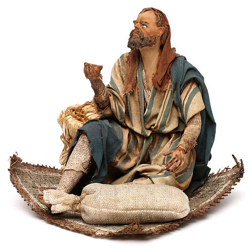 Nativity scene beggar 18 cm by Angela Tripi 3