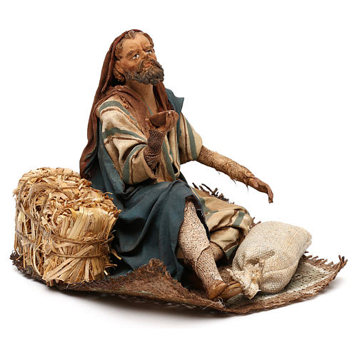 Nativity scene beggar 18 cm by Angela Tripi 4