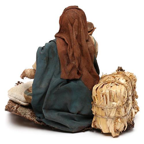 Nativity scene beggar 18 cm by Angela Tripi 5