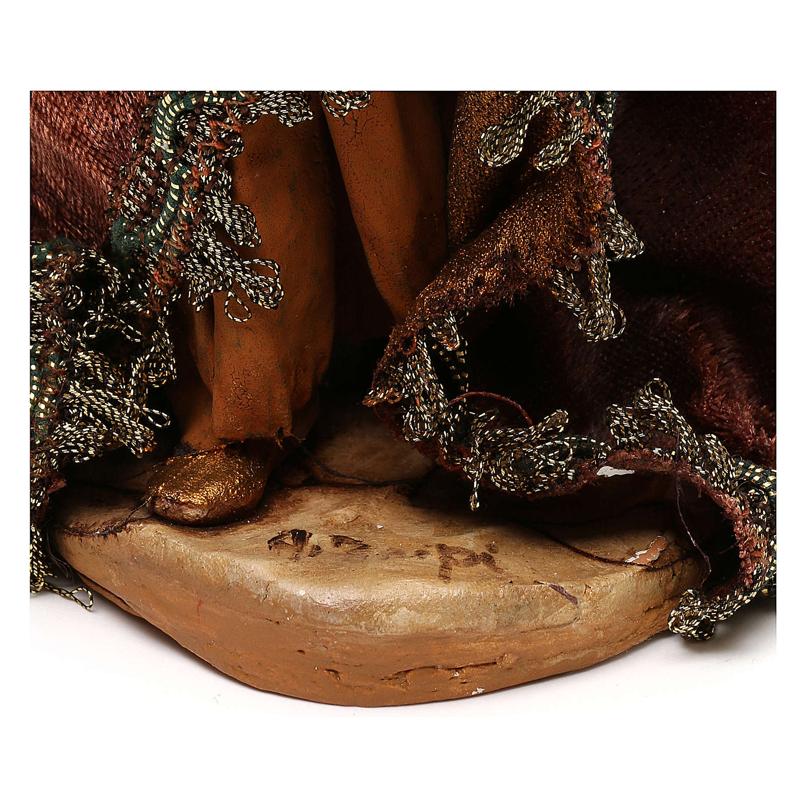 Nativity scene standing King 18 cm by Angela Tripi 4
