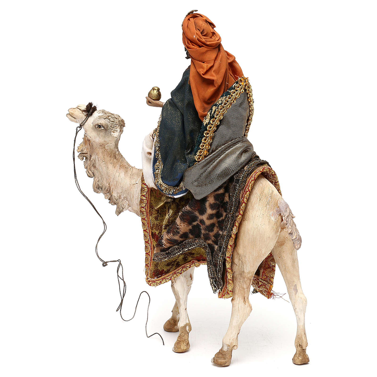 Nativity scene King on camel 13 cm by Angela Tripi 4
