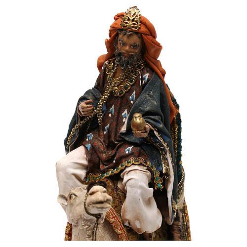Nativity scene King on camel 13 cm by Angela Tripi 2