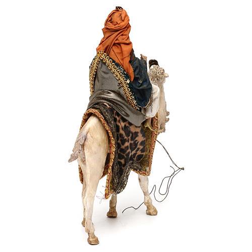 Nativity scene King on camel 13 cm by Angela Tripi 5