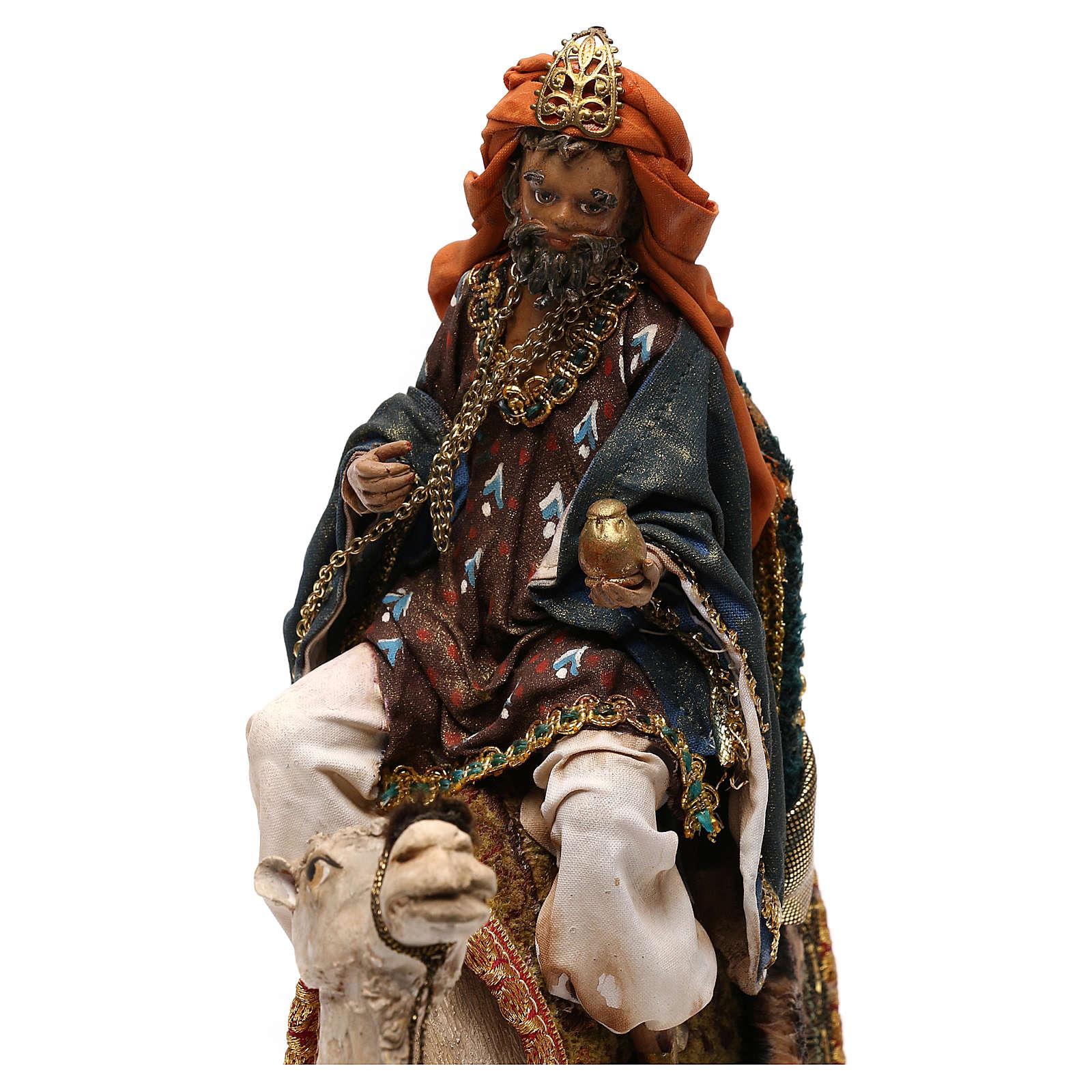 Rey Mago con camello para belén 13 cm Tripi 4