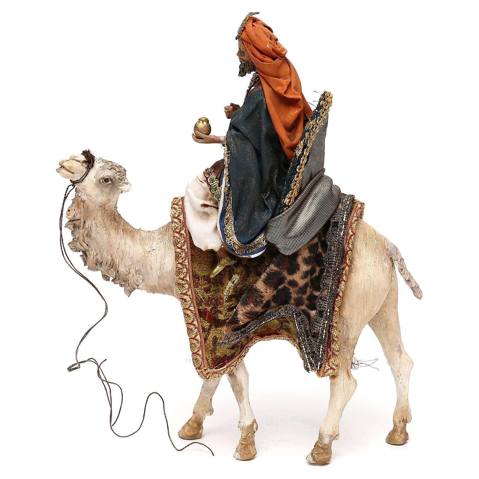 Re Magio su cammello per presepe 13 cm Tripi 4