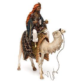 Re Magio su cammello per presepe 13 cm Tripi s4