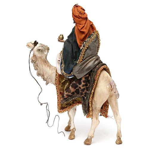 Re Magio su cammello per presepe 13 cm Tripi 3