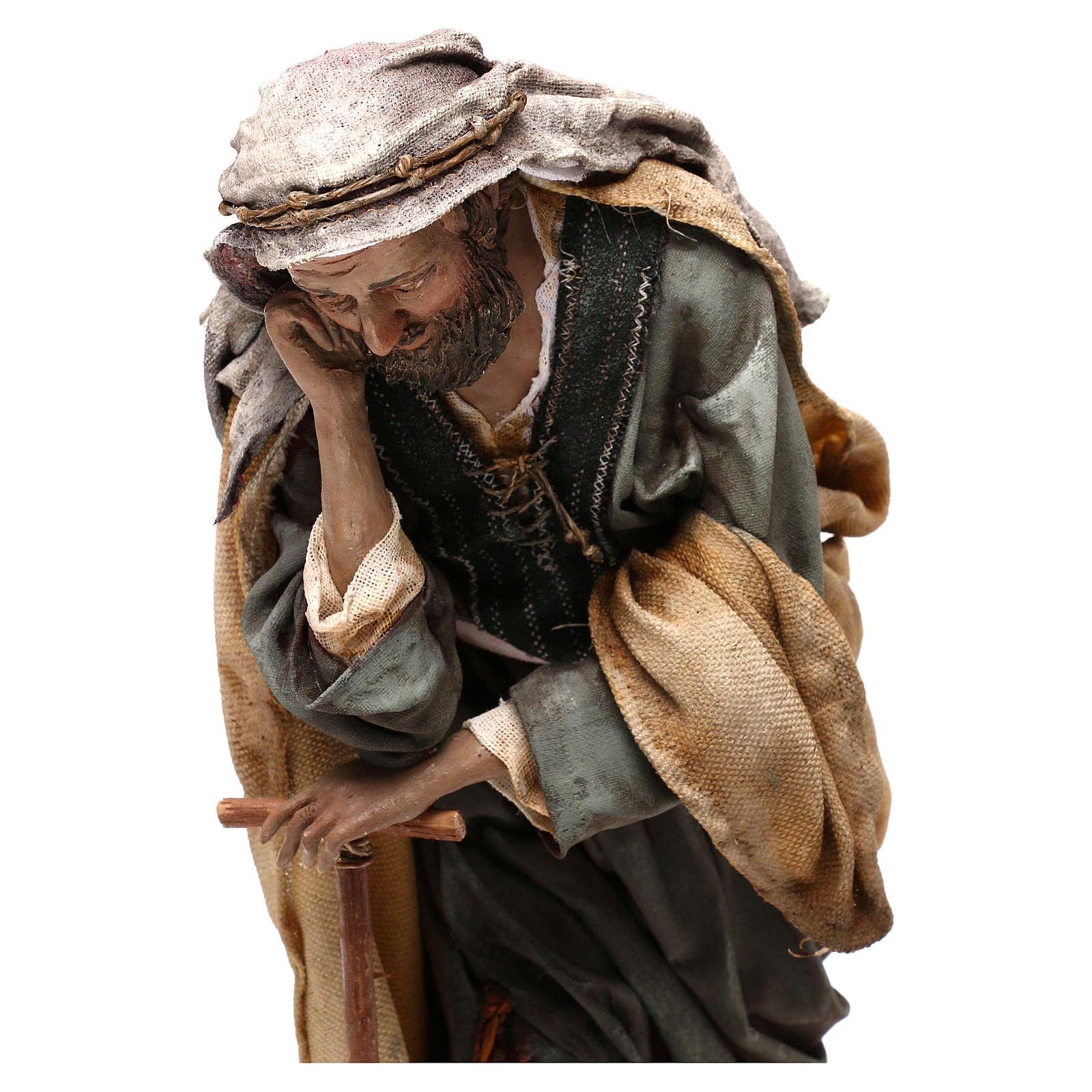 Natividad Angela Tripi: María que abraza al Niño 30 cm 4