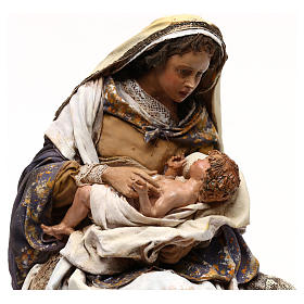 Natividad Angela Tripi: María que abraza al Niño 30 cm s2