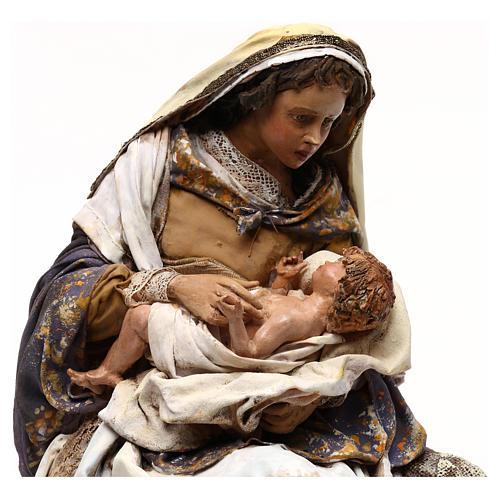 Natividad Angela Tripi: María que abraza al Niño 30 cm 2