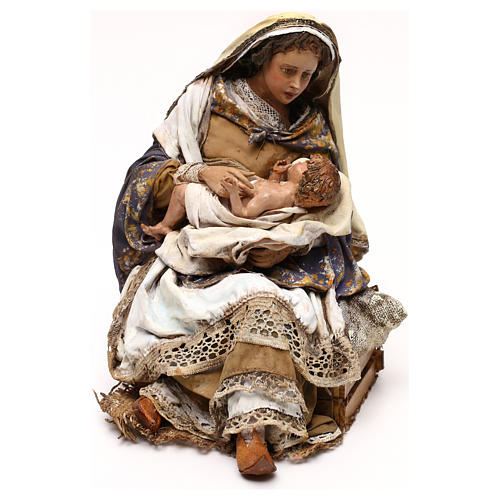 Natividad Angela Tripi: María que abraza al Niño 30 cm 3
