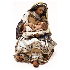 Angela Tripi nativity: Mary hugging The Child 30 cm s3
