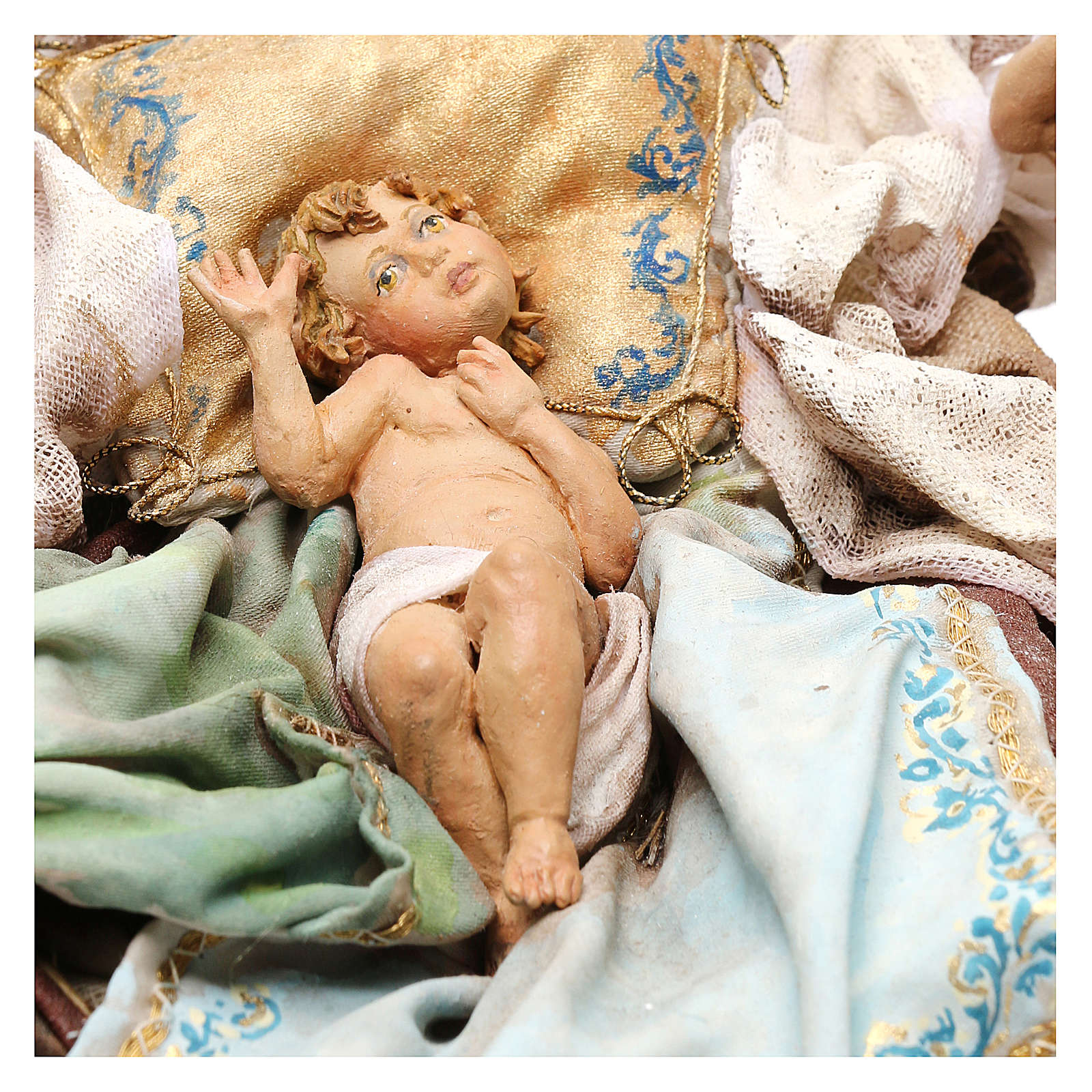 Nativity scene with angels, 30 cm by Angela Tripi 4