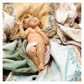 Nativity scene with angels, 30 cm by Angela Tripi s3