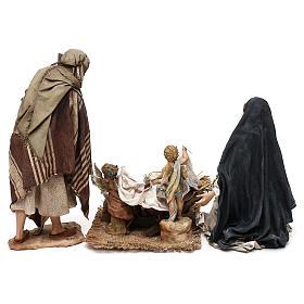 Nativity scene with angels, 30 cm by Angela Tripi s8