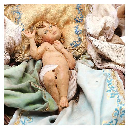 Nativity scene with angels, 30 cm by Angela Tripi 3
