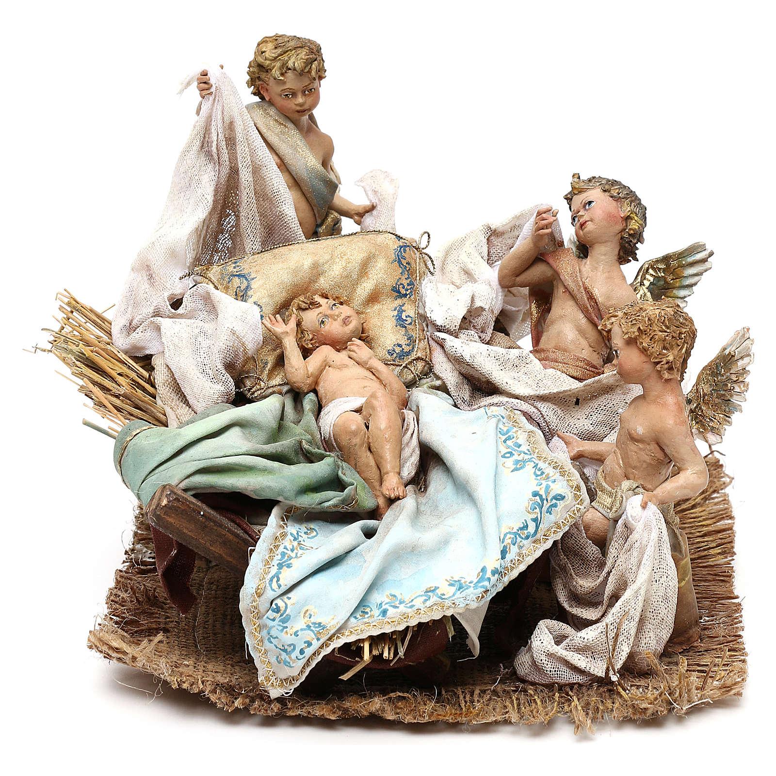 Nativité avec putti crèche 30 cm Tripi 4