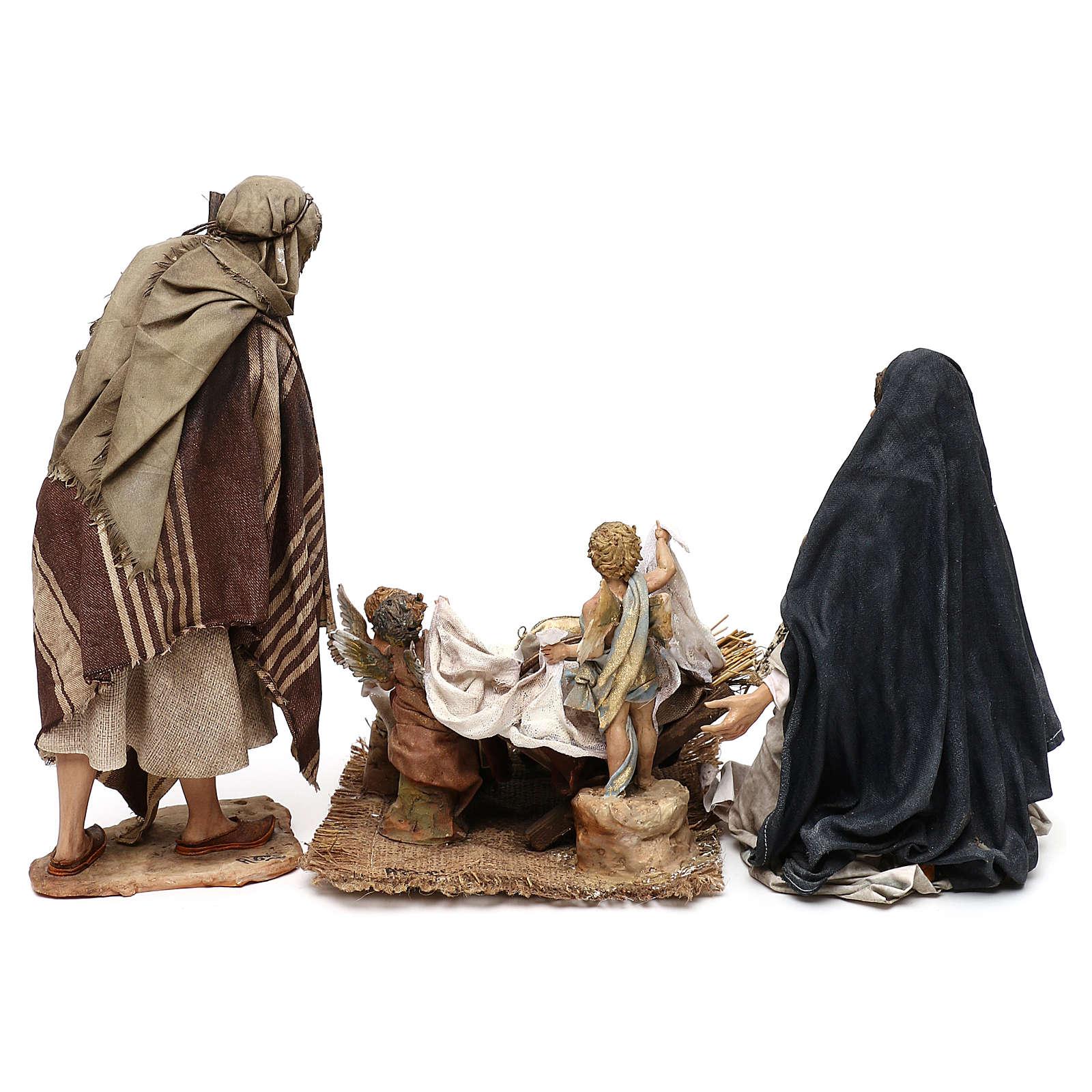 Holy Family set with putti, 30 cm Tripi nativity 4