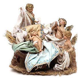 Holy Family set with putti, 30 cm Tripi nativity s2