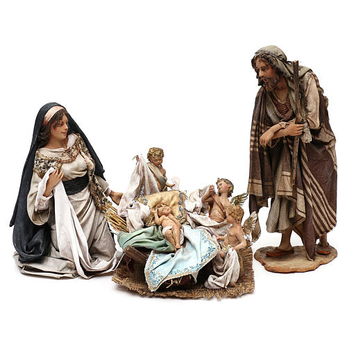Holy Family set with putti, 30 cm Tripi nativity 1