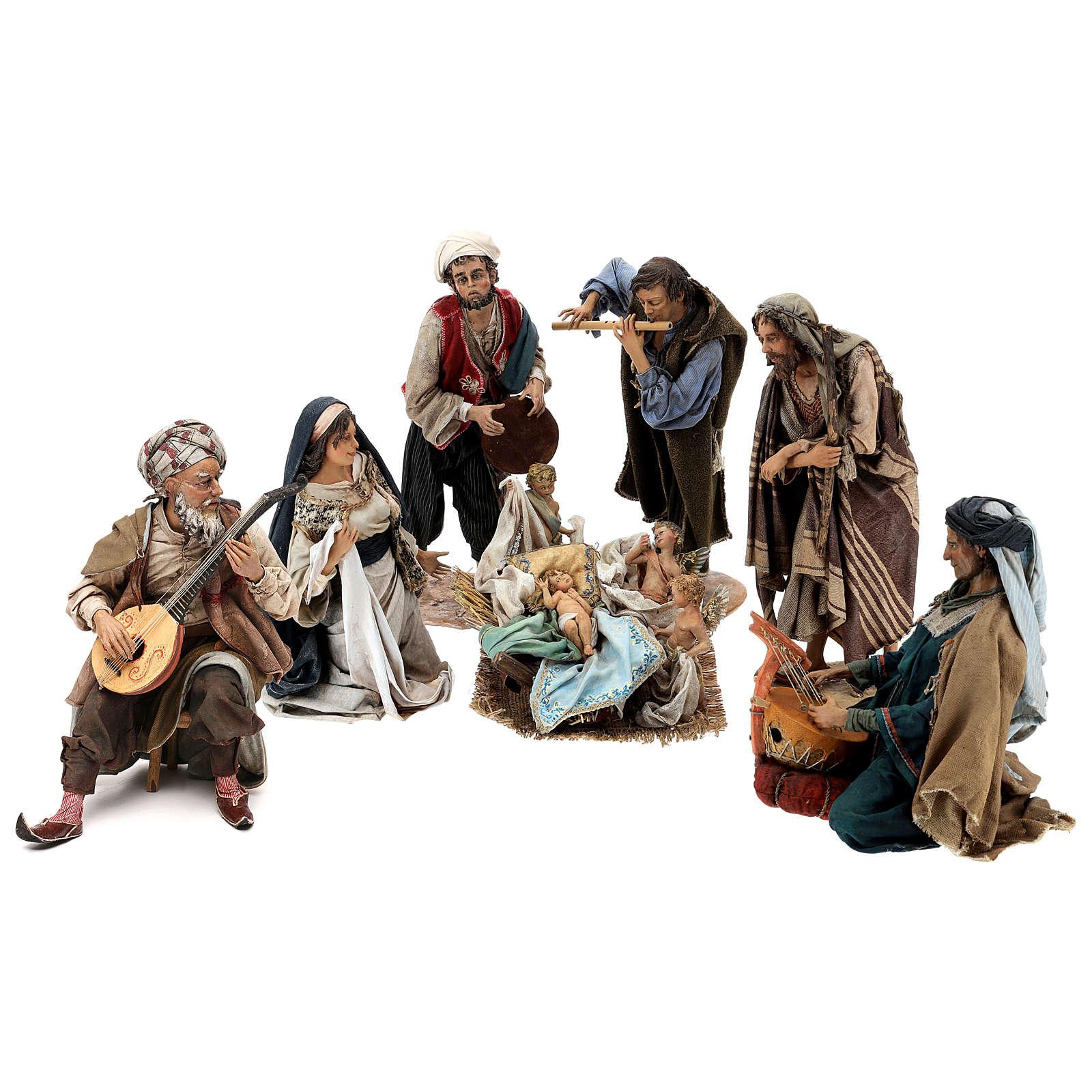 Escena Natividad con 4 tocadores 30 cm Angela Tripi 4
