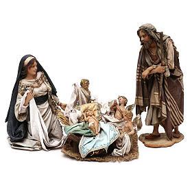 Escena Natividad con 4 tocadores 30 cm Angela Tripi s2