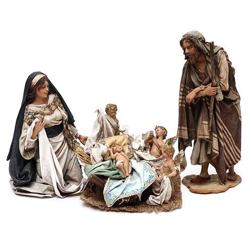 Escena Natividad con 4 tocadores 30 cm Angela Tripi 2