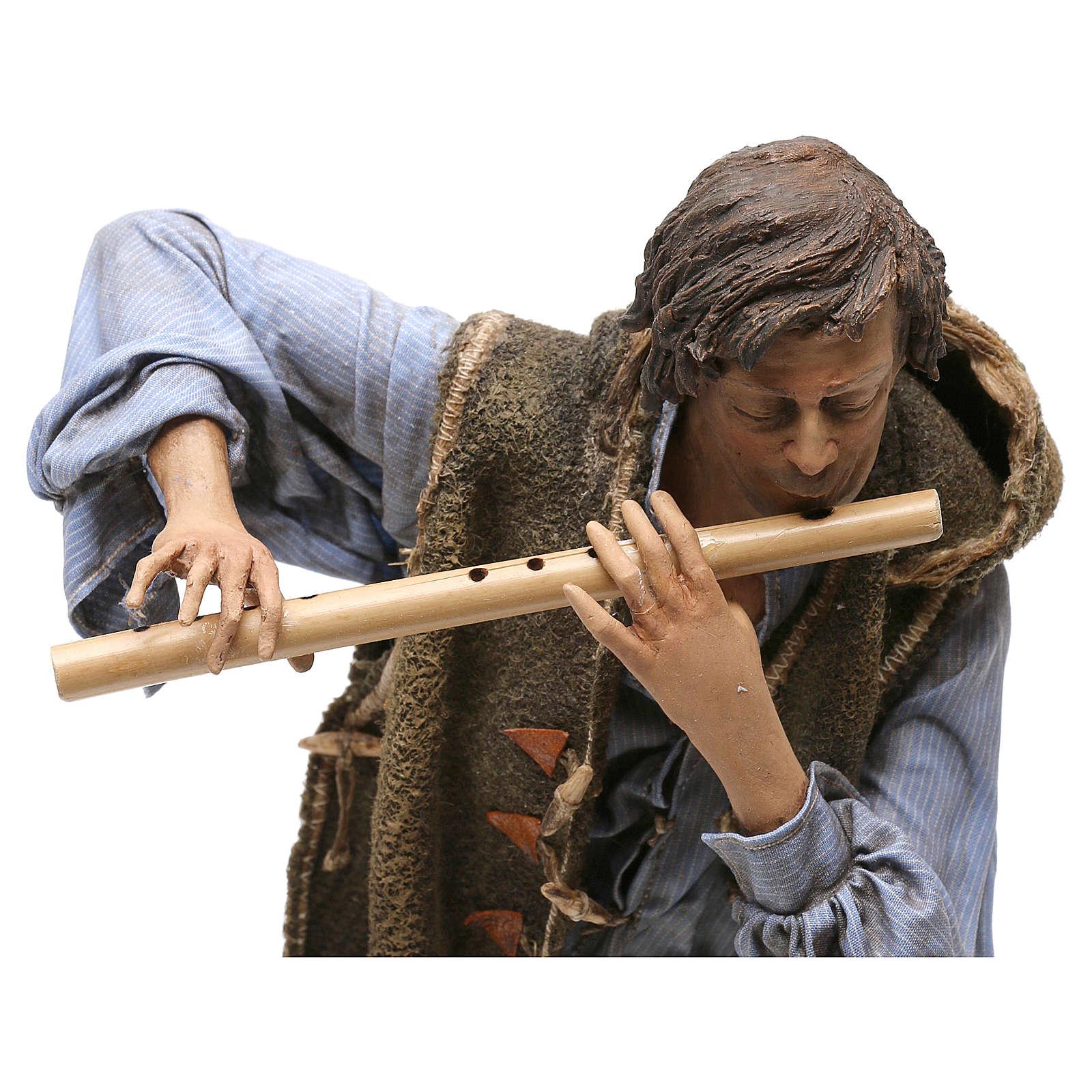 Scena Natività con 4 suonatori 30 cm Angela Tripi 4