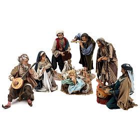 Scena Natività con 4 suonatori 30 cm Angela Tripi s1