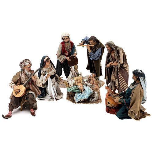 Scena Natività con 4 suonatori 30 cm Angela Tripi 1