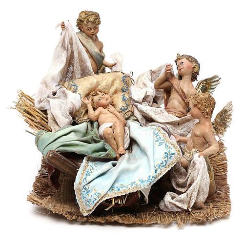 Scena Natività con 4 suonatori 30 cm Angela Tripi 3
