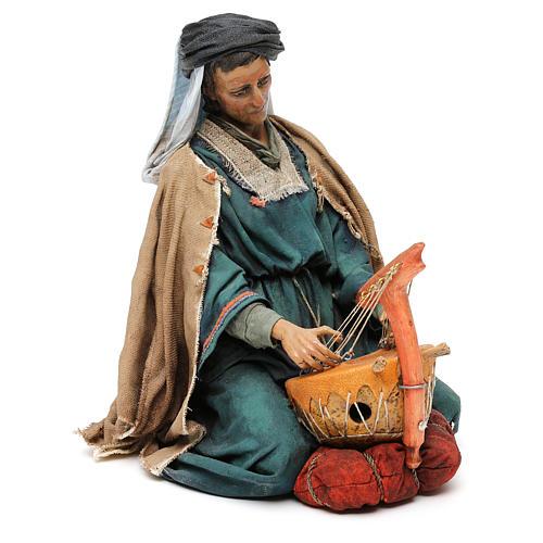 Scena Natività con 4 suonatori 30 cm Angela Tripi 8