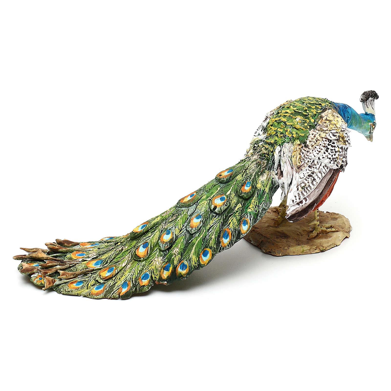 Nativity scene peacock, 18 cm by Angela Tripi 4