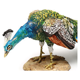 Nativity scene peacock, 18 cm by Angela Tripi s2