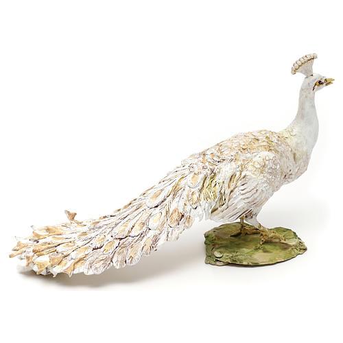 Nativity scene white peacock, 18 cm by Angela Tripi 3