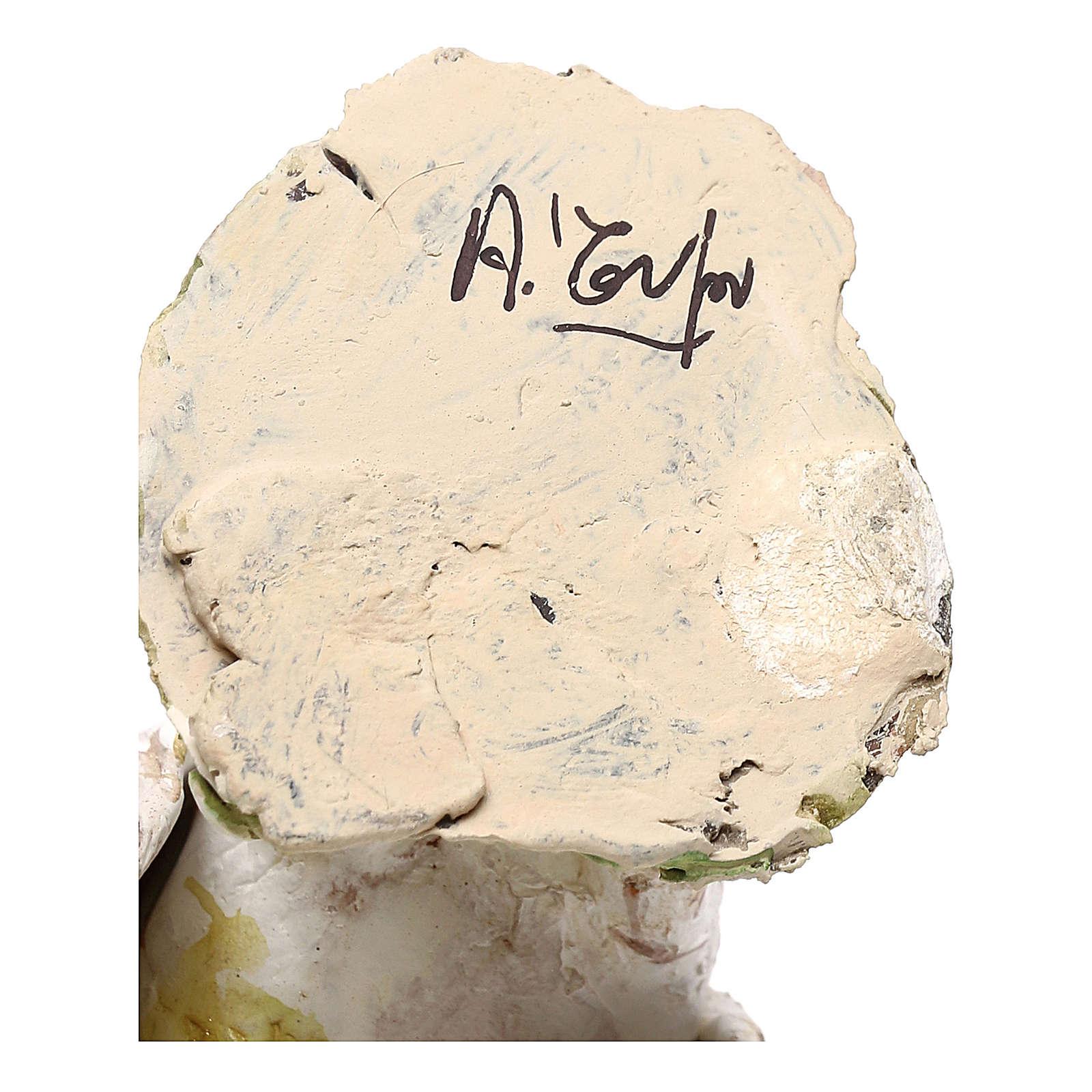 Pavone albino 18 cm Angela Tripi  4