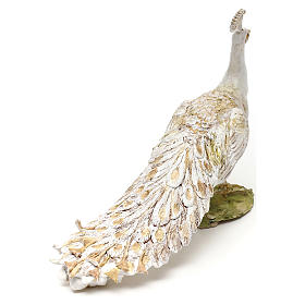 Pavone albino 18 cm Angela Tripi  s5