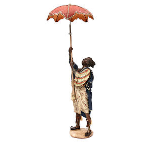 Slave with umbrella, 30 cm Angela Tripi Nativity Scene s2