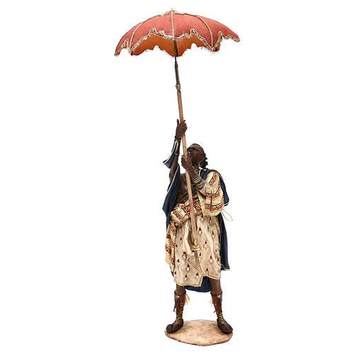 Slave with umbrella, 30 cm Angela Tripi Nativity Scene 1