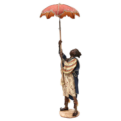 Slave with umbrella, 30 cm Angela Tripi Nativity Scene 2