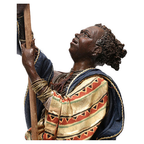 Slave with umbrella, 30 cm Angela Tripi Nativity Scene 3