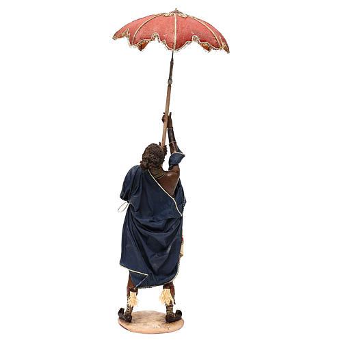 Slave with umbrella, 30 cm Angela Tripi Nativity Scene 7