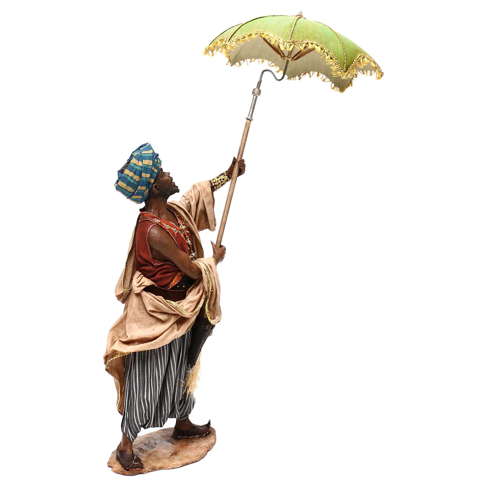 Nativity scene servant with umbrella, 30 cm by Angela Tripi 4