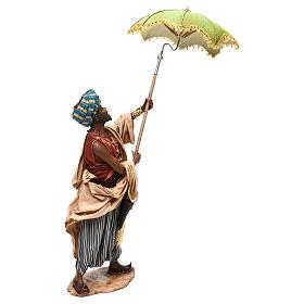 Nativity scene servant with umbrella, 30 cm by Angela Tripi s5