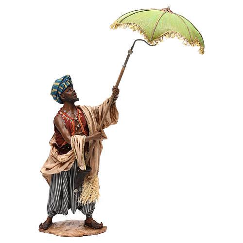 Nativity scene servant with umbrella, 30 cm by Angela Tripi 1