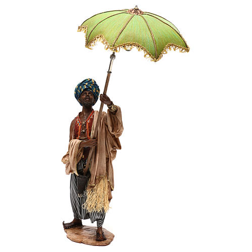 Nativity scene servant with umbrella, 30 cm by Angela Tripi 3