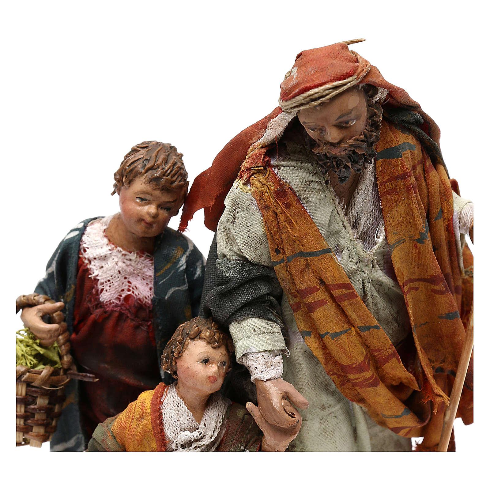 Nativity scene shepherd and childern, 13 cm by Angela Tripi 4