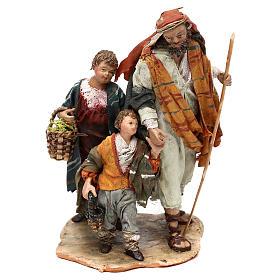 Nativity scene shepherd and childern, 13 cm by Angela Tripi s1