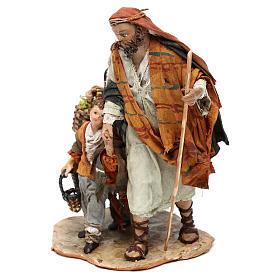 Nativity scene shepherd and childern, 13 cm by Angela Tripi s2